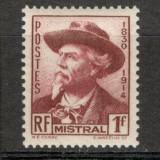 Franta.1941 F.Mistral-poet PREMIUL NOBEL XF.117, Nestampilat
