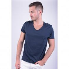 Tricou Bumbac Selected Merce O-neck Bleumarin