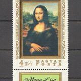 Ungaria 1974 - Mona Lisa, neuzata