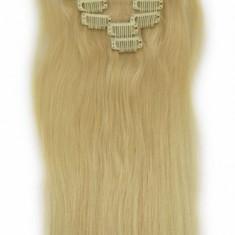 Extensii par 100% natural blond deschis