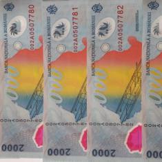Bacnote eclipsa 2000 lei serie 002A - Bancnota romaneasca