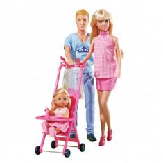 Papusa Steffi si Kevin Happy Family 5733200 Simba