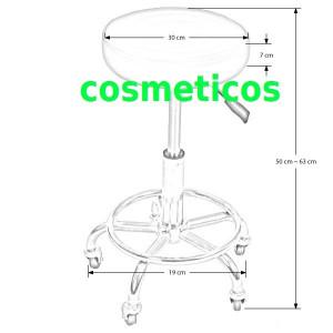Scaun rotund mobil/rotativ Scaun cosmetica manichiura/pedichiura