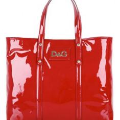 Dolce&Gabbana Red Estelle Shopper - Geanta Dama D&G, Culoare: Rosu, Marime: Supradimensionata