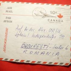Aerograma Canada, 1970 Otawa- Bucuresti, catre Prof. Ursu Alexandru