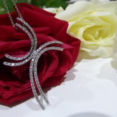 Colier aur 14k cu diamante - Colier aur alb