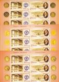 BUTCULESCU,3X, MINISHEET CU VIGNETE DIFERITE ,2005 MNH,ROMANIA., Istorie, Nestampilat