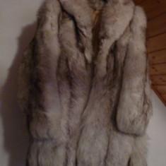 Blana Superba Vulpe Argintie polara - haina de blana