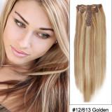 Extensii par 100% natural #12/613 blond mix saten