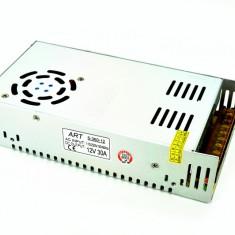 Invertor 220v-12v 30A 360W pentru banda led AL-170817-6 - Invertor curent