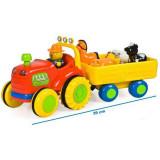 Jucarie Tractor cu remorca si animale Happy Farm - Jucarie interactiva
