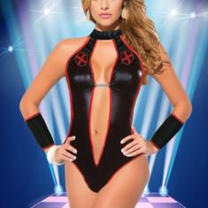 Y489-1 Lenjerie tematica sexy, stil body cu decolteu adanc - Bedroom Nurse - Body dama, Marime: M