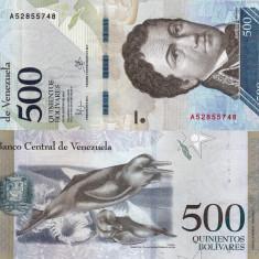 VENEZUELA 500 bolivares 18 august 2016 UNC!!!