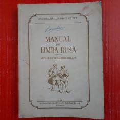 MANUAL DE LIMBA RUSA pentru militarii din fortele armate ale R.P.R. = an 1953