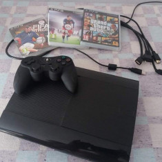 PlayStation 3 Sony SuperSlim (GTA V, Fifa 16, Fifa STREET)