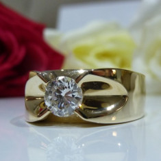 Inel aur 14k cu diamant - Inel diamant, Culoare: Galben