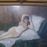 Tablou nud zorad geza...reducere - Pictor strain, Ulei, Impresionism