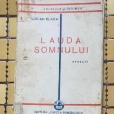 Lauda somnului  : versuri / Lucian Blaga prima editie 1929