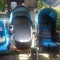 Carucior bebe - Carucior copii 3 in 1, Albastru