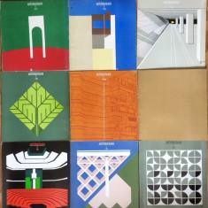 Revista Arhitectura -16 volume - anii '72, '75, '79, '80, '81 - Revista casa