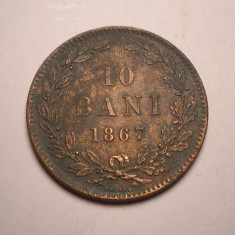 10 bani 1867 Heaton - Moneda Romania