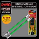 Benzi luminoase El-Stripe 2buc 12V 21cm - Verde Profesional Brand - Banda LED