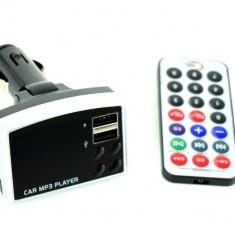 Modulator FM MP3 si incarcator telefon USB. Voltaj dual: 12V - 24V AL-160817-18 - Modulator FM auto