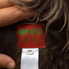 Haina de blana Kenzo Jungle - Palton dama, Marime: 36/38, Culoare: Maro