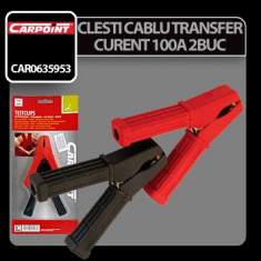 Clesti cablu transfer curent 100A 2buc - Carpoint Profesional Brand - Cablu Curent Auto