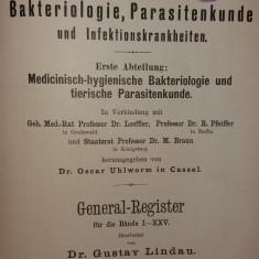 GUSTAV LINDAU - CENTRALBLATT FUR BAKTERIOLOGIE - GENERAL-REGISTER