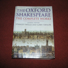 William Shakespeare - Opere complete - Stanley wells , Gary Taylor - Oxford 1998