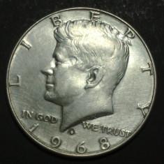 America SUA 1 half dollar 1968 Argint, America de Nord