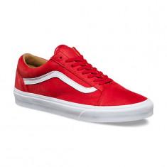 Adidasi Vans Men's Ua Old Skool Low-Top Sneakers marimea 41 - Tenisi barbati Vans, Culoare: Rosu, Piele naturala