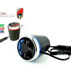 Modulator FM cu functie Kit Handsfree auto Bluetooth USB 12V-24V AL-160817-17 - Modulator FM auto