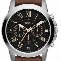 Ceas original Fossil Grant FS4813 - Ceas barbatesc