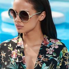 Ochelari de Soare Rotunzi Oversized Maro#2 - Ochelari de soare Versace