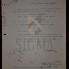 REGELE MIHAI, MIRON CRISTEA, BUZDUGAN, ARGETOIANU, DOCUMENT DE CANCELARIE, SEMNATURI ORIGINALE, CRIZA DINASTICA - REGENTA, 1928 - Biografie