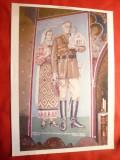 Fotografie-Copie-Gral Antonescu si Sotia- ctitori ai Bisericii- Bariera Vergului