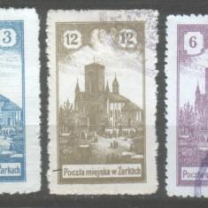 1918 Polonia Mi. 1, 3, 7 stampilat