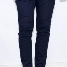 Pantaloni eleganti pantaloni barbat pantaloni conici pantaloni bleumarin cod 142
