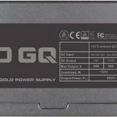 Sursa EVGA GQ Series, 650W, 80+ Gold, ventilator 135 mm, PFC Activ - Sursa PC