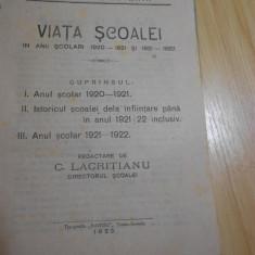 VIATA SCOALEI NORMALE ''DOMNUL TUDOR '' DIN T-SEVERIN--1920-1922 - Carte veche