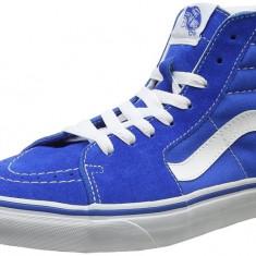Adidasi Vans Men's Ua Sk8 Hi-Top Sneakers marimea 40 - Ghete barbati Vans, Culoare: Albastru, Piele intoarsa