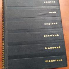 Dictionar Altele Tehnic Poliglot (romana, rusa, engleza, germana, franceza, maghiara)