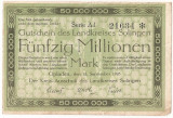GERMANIA STADT SOLINGEN 50000000 MARK 1923 U