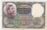 SPANIA 50 PESETAS 1931 VF