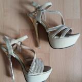Sandale elegante - Sandale dama, Culoare: Cappuccino, Marime: 36