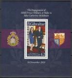 GIBRALTAR 2010 - REGALITATE - PRINTUL WILLIAM - BLOC NESTAMPILAT - MNH / personalitati26