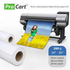 Rola hartie fotografica rc high glossy 260g latime rola 36 inch - Plotter