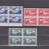 ROMANIA 1952 LP 319 AVIATIE   bloc x 4 POSTA AERIANA mnh,supratipar, Nestampilat